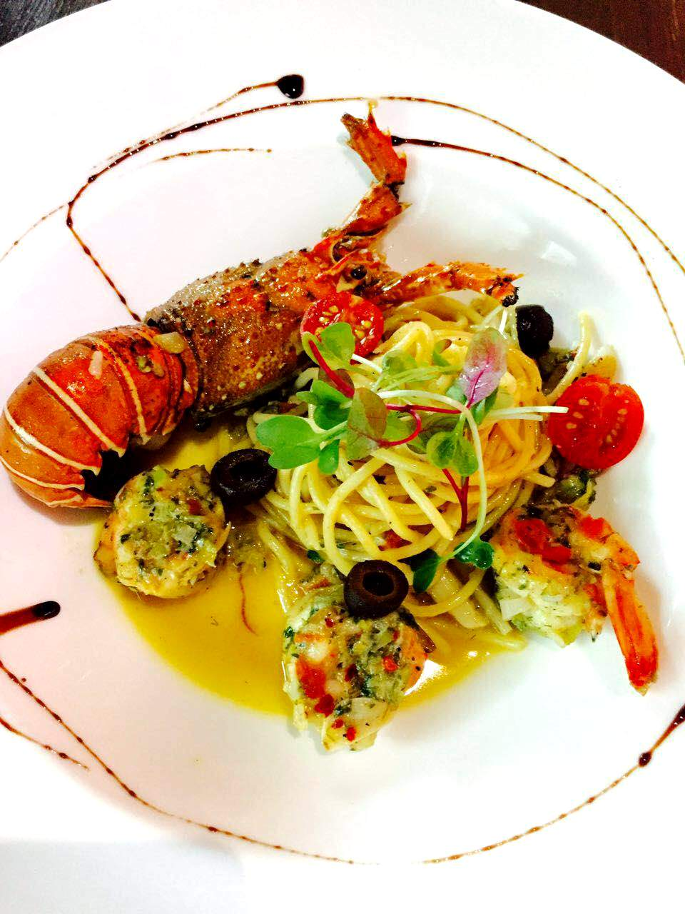 A wine poached lobster heaven